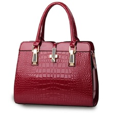 2016 Designer handbags Alligator Patent Leather Women Handbag Big Women's Shoulder Bags Cross Lock Design Lady Tote Handbag
