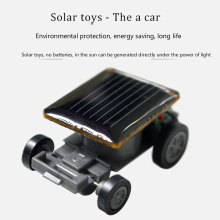 Smallest Mini Car Solar Powered Toy Car Mini Children Solar Toys Gift Baby Kid Solar Cars LUCKY PIGLET 2017 new(China)