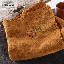 New 2017 Tea towel 1piece 30*30cm Coffee towel microfirber Kitchen towel China Style Embroidered Dish Cloth Beroyal Brand