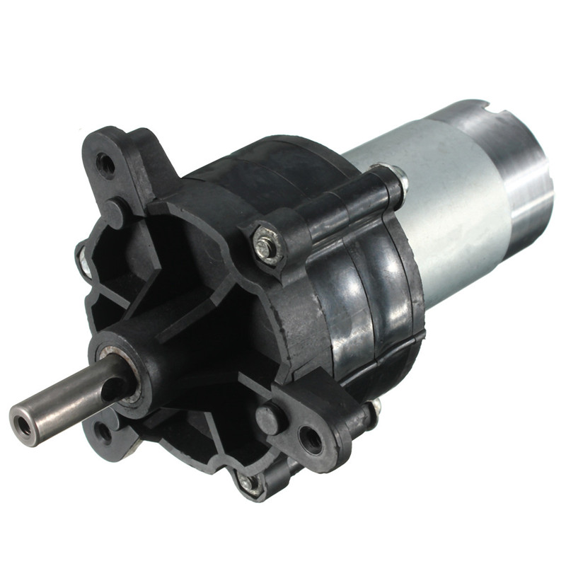 DC 12V-24V 130RPM Slow Speed Large Torque Micro 7-Type Gear Motor DIY Generater