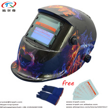 Factory Wholesale Auto Darkening Welding Helmet Equipment Protector Welder Cap/Electric Welding Mask Dark Glass Lens Fast Ship