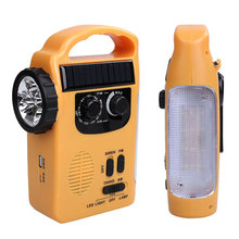 Dynamo Radio Solar Powered Wind Up Outdoor Portable AM/FM Radio Emergency LED Flashlight