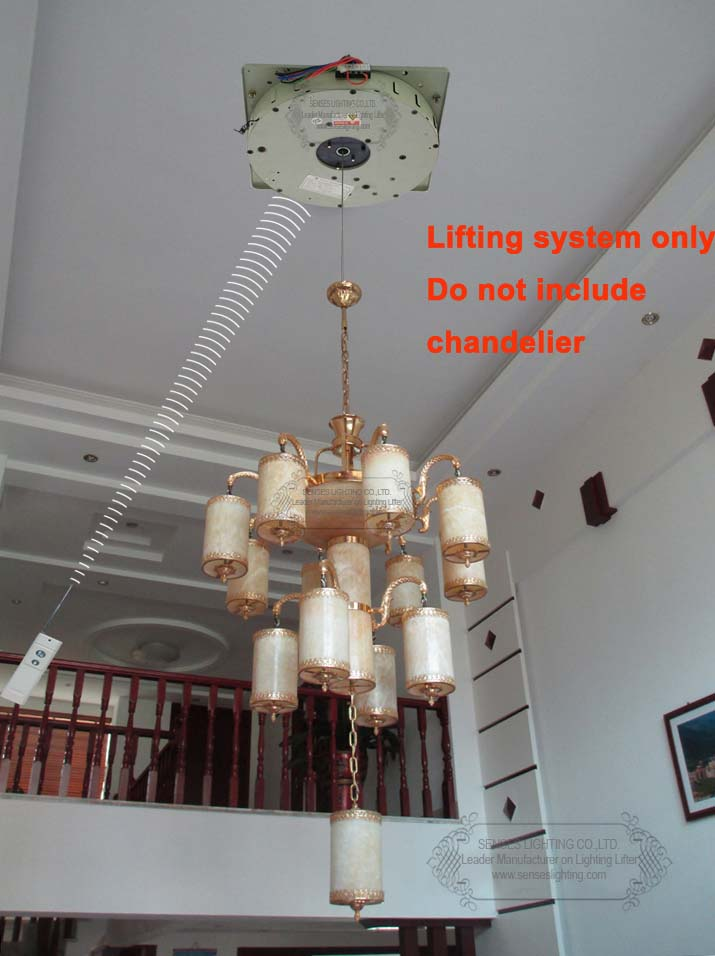 100kg 5m Auto Remote Control Lighting Lifter Chandelier Hoist Winch Lift Light Motor 110v 120v 220v 240v In Lights Lifters From