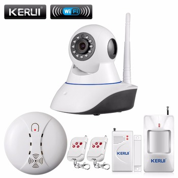 Kerui 720 p red de seguridad wifi cámara ip megapixel hd inalámbrico digital ir cámara de visión nocturna por infrarrojos de seguridad sistema de alarma