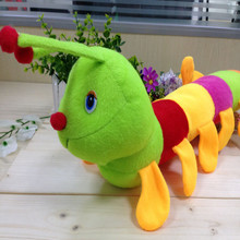 1 PcsUnisex kawaii Fascinating Colorful Inchworm Insect Soft Lovely Developmental Doll Plush kids stuffed toys For baby Children