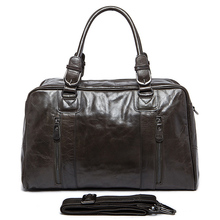 Luxury Genuine leather Men Travel Bags Luggage Bag Large Men Duffle Bag Weekend Leather Luggage Travel Bags Overnight Tote Big