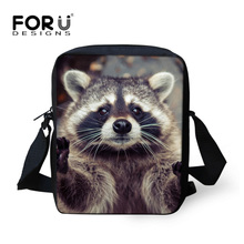 Buy FORUDESIGNS Mini Children Kids Messenger Bags Cute Printing Raccoons Girls Crossbody Bags Small Women Cross Body Shoulder Bags for $8.09 in AliExpress store