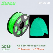 glow in dark  1kg 1.75 mm ABS  filament for 3D printing with 0.02mm tolerance  and no bubble 6 colors available