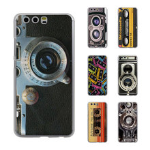 Vintage Camera audio tape cassettle style Style Thin transparent phone Cover Case for Huawei P10 P10lite P8 P9 lite Mate8 Mate9