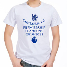 Men's Short sleeve t-shirt Chelsea Eden Hazard John George Terry Premier League Silva Costa 100% cotton t-shirt jersey fans