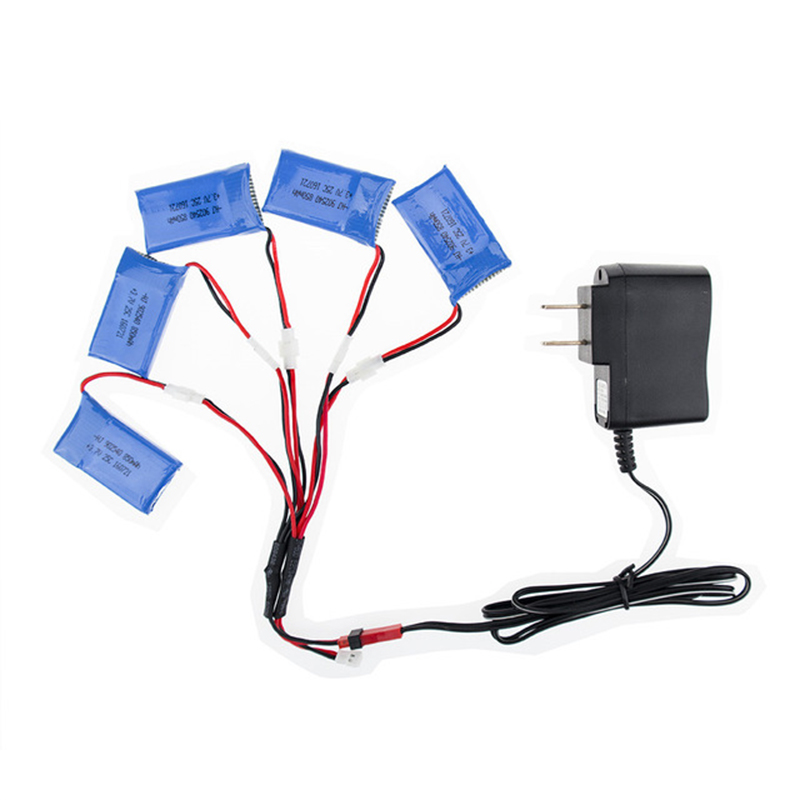 Syma X5C rc 3.7v 850mah Lipo battery 5pcs and charger with cable for syma x5 x5sw x5sc cx30 cx30w JJRC H97 Helicopter drone part<br>