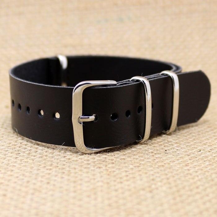 20MM Black Fashion  Leather Stainless Steel Pin Buckle Bracelet Wrist Quartz Watch Band Strap<br><br>Aliexpress