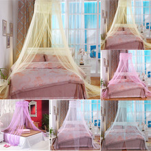 European Hung Dome Mosquito Net For Girl Double Canopy Bed Curtains Elegant Lace Princess Circular Nets Summer Bedroom HomeDecor(China)