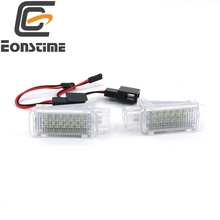 Eonstime 2PCS LED Foot Courtesy Light Lamp for AUDI A2 (8Z) 5-door A3/S3 (8P) A4 B5 B6 B7 B8 RS4 A5/S5 A6/S6 A8/S8 Q5 TT R8(China)