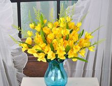 Silk flowers bouquet flowers 40cm artificial flowers gladiolus,one set/3pcs home decoration furnishings gift a1870