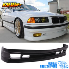 For 92-98 BMW E36 AC Type II Style Half Front Bumper Lip - Urethane Global Free Shipping Worldwide