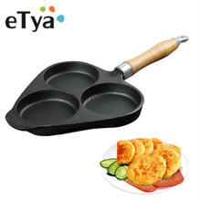 ETYA 1PC Creative Non-stick Frying Pan Egg Cake Maker Frying Pan No Oil-smoke Breakfast Pan Use for Gas & Induction Cooker(China)