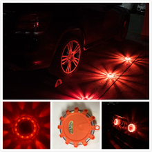 Aimbinet LED Road Flares Flashing Warning Light Roadside Flare Emergency Disc Beacon, Magnetic Base for Car or Marine Boat