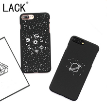 LACK For iphone7 Phone Cases Fashion Universe Series Hard PC Back Cover For iphone 7 7Plus Cartoon Planet Moon Sun Stars NEW(China)