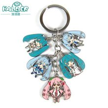 Halder Hatsune Miku Figures Anime Charms Key Chains Trinkets Accessories Gadgets Keychain Newly Style For Woman Phone Strap