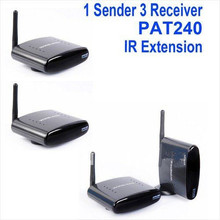 TV Audio Video Wireless Transmitter 3 Receiver Wireless AV Sender 250m 2.4G PAT-240 Free Shipping