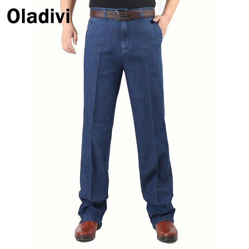 Plus Size 42/40/38 2015 Fashion Designer Brand Men Jeans Man Classic Cotton Denim Pants Male Casual high Waist Stright TrousersÎäåæäà è àêñåññóàðû<br><br>