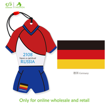 2018 Germany soccer jersey shaped automatic auto air vent freshener for cars hanging lavender vanilla fresh fragrance(China)
