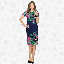 NFIVE New Brand Fashion 2017 Spring Elegant Women Printing Dress Casual Party Dresses Vestidos Black Friday Clothes(China)