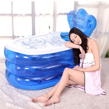Water Beauty Portable PVC Adult Bath Tub Folding Inflatable Bathtub Safe And Environmentally Friendly Non-toxic Thick Bath(China)