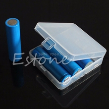 Transparent Hard Plastic Case Holder Storage Battery Box for 4 x 18650 Batteries -R179 Drop Shipping