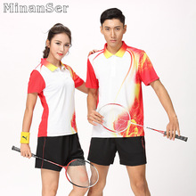 Free Custom Name Badminton wear sets Women/Men's , sports Tennis sets , Table Tennis sets , Quick dry sportswear sets 8809(China)