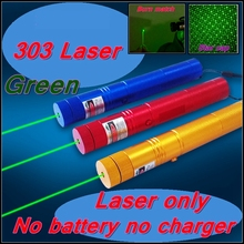 ReadStar 303 Green laser only high 1W Laser pointer laser pen burn match star cap 4 colors laser only without battery & charger(China)