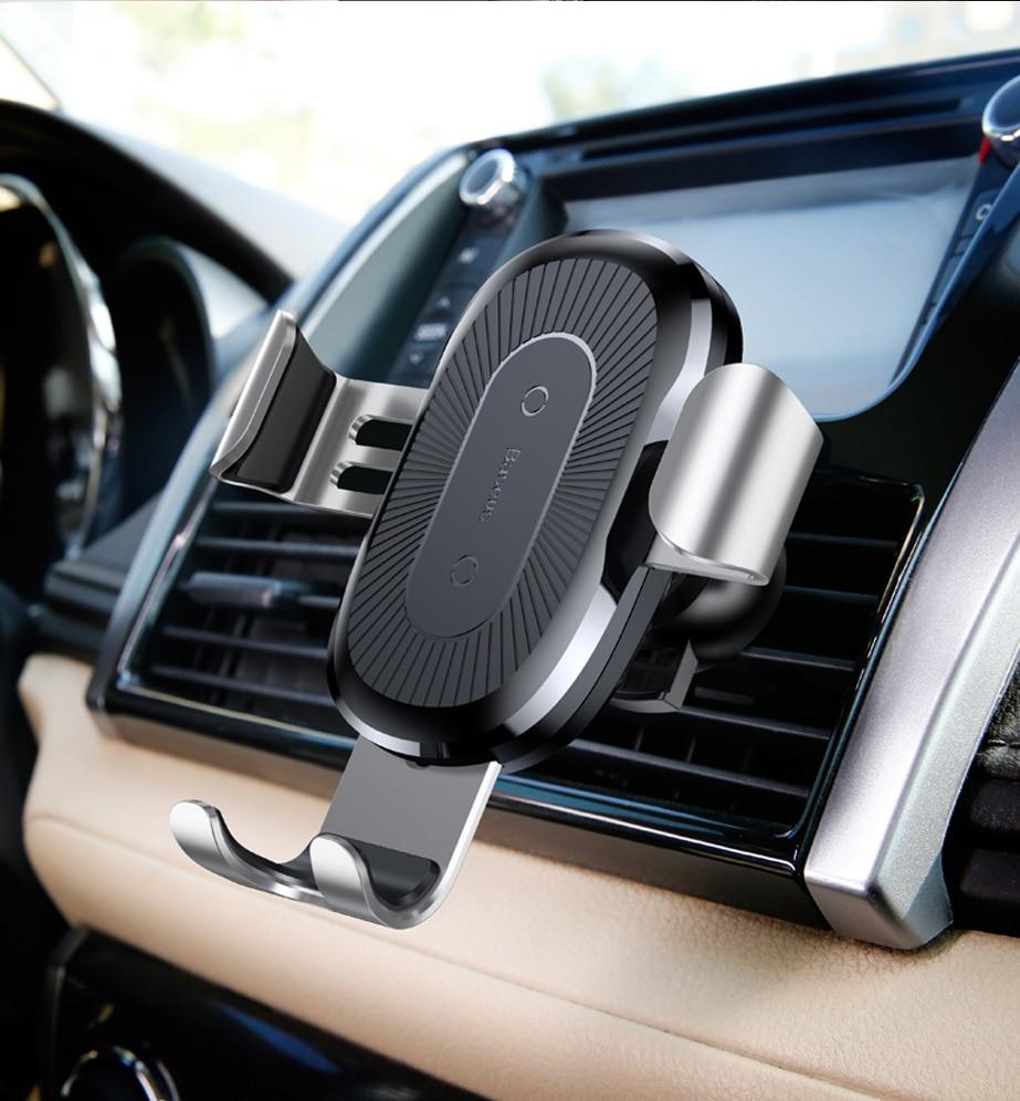 Baseus Car Mount Qi Wireless Charger شاحن سيارة لاسلكي سريع 24