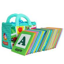 Fun 26 Letters Cloth Card with Cloth Bag Early Education Toy Dec20