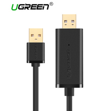 Ugreen High Speed USB 2.0 PC to PC Data Link Cable Online Share Sync Data Transfer Net Direct File Transfer for Windows Mac(China)