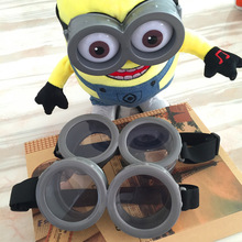 Minions party supplies Glasses birthday Festivals cosplay costume 3D Circular Glass Birthday Party Supplies Decoration