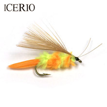 ICERIO 10PCS Bumble Bee Fly Trout Bass Fly Fishing Lures #10