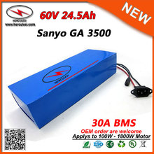 Manufacturer OEM PVC Cased Lithium Battery Pack 60V 24.5Ah for 1800W Motor use in GA3500 18650 Cells with 2A + 5A Charger Choose(China)