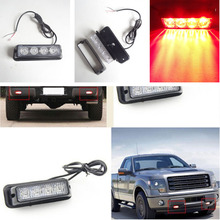 Amber Lightbar Red and Blue Car LED Strobe Light Car Warning Light Side LED Lighting with Yellow Red Blue and White Color Light
