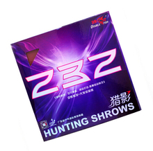 1x Double Fish Hunting Shadows 232 (Pins in)table tennis rubber with purple sponge internal energy rubber