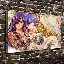 A1247 Sexy Girl Naked Anime Figures Scenery. HD Canvas Print Home decoration Living Room bedroom Wall pictures Art painting