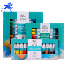 Winsor&Newton Professional Acrylic Paints Set 12/18/24 Colors Hand Painted Wall Drawing Painting Pigment Set Art Supplies
