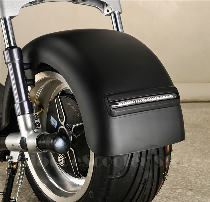 Electric Scooter Citycoco Two Wheels Electric Scooters Big Wheels 60V 1000W Harley Electric Scooter With Seat (7)