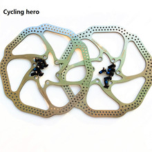 2PCS quality stainless steel cycling hero 160 / 180MM brake disc brake bike parts performance over HS1 BB5 BB7free shipping