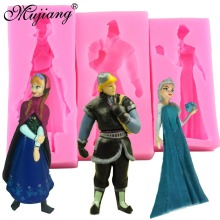 Silicone Mold Frozen Princess Girl Christmas Fondant Cake Decorating Tools Chocolate Cake Candy Molds Fimo Clay Soap Moulds