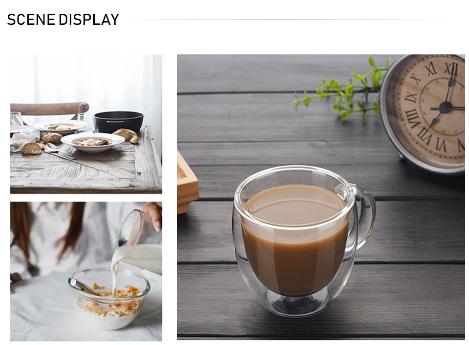 Heat Resistant Double Wall Glass CoffeeTea Cups And Mugs Travel Double Coffee Mugs With The Handle Mugs Drinking Shot Glasses  (2)