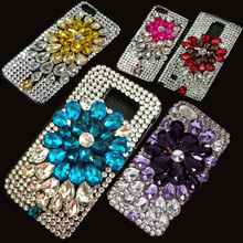 Bling Crystal Sparkle Jewelry Grape Diamond Case For Samsung Galaxy S Duos GT-S7562 S7562 S7560 Coque Capa Lady Pink Cover