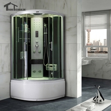 90cm Shower Cabin No Steamr shower Enclosure shower room douche cabine glass Cubicle Bathroom Jetted Massage White 903