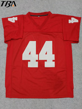 2017 New American Football Jersey Forrest Gump #44 Football Jersey Stitched Tom Hanks Movie Red Cheap Throwback Breathable