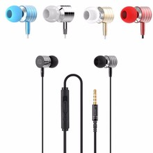 Universal 3.5mm In-Ear Stereo Earbuds Earphone With Mic For Cell Phone for Samsung for iPhone with 3.5 mm audio jack